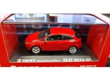 DEALER MODEL 1:43 - SEAT IBIZA SC 2013 *IN SEAT DEALER PACKAGING*, RED