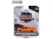 GREENLIGHT 1:64 - CHEVROLET SILVERADO 2018 3500 DUALLY SERVICE BED *DUALLY DRIVERS SERIES 6*, TANGIER ORANGE WITH S