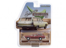 GREENLIGHT 1:64 - OLDSMOBILE VISTA CRUISER 1971 *ESTATE WAGON SERIES 5*, MATADOR RED WITH WOODGRAIN