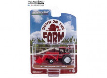 GREENLIGHT 1:64 - TRACTOR 1982 WITH FRONT LOADER AND DUAL REAR WHEELS *DOWN ON THE FARM SERIES 4*, RED/BLACK