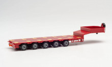HERPA 1:87 - Goldhofer low boy trailer 5-axle with enclosed chutes, ruby red
