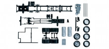 HERPA 1:87 - Mercedes-Benz Actros 2011 chassis for truck 3-axle (7,45m) Content: 2 pcs.