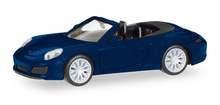 HERPA 1:87 - Porsche 911 Carrera 4S Cabrio, night blue metallic