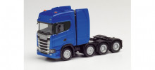 HERPA 1:87 - SCANIA CS HD HEAVY DUTY RIGID TRACTOR, ULTRAMARINE BLUE