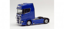 HERPA 1:87 - Scania CS20 high roof Trailer with light bar and bumper, ultramarine blue