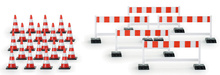 HERPA 1:87 - Traffic cones (20 pieces), barriers (5 pieces)