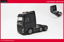 HERPA 1:87 - Volvo FH Gl. 6x2 rigid tractor with headlights and two flashing lights, black