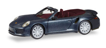 HERPA1:87 - Porsche 911 Turbo Cabriolet, deep black metallic