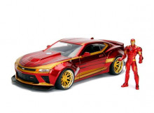 JADA 1:24 - CHEVROLET CAMARO 2016 *IRON MAN* INCLUDING IRON MAN FIGURE, RED/GOLD
