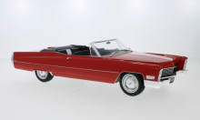 KK SCALE 1:18 - CADILLAC DEVILLE CONVERTIBLE 1967, RED