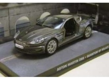 MAGAZINE MODELS 1:43 - ASTON MARTIN DBS JAMES BOND BASHED UP 'QUANTUM OF SOLACE', BLACK