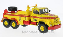 MAGAZINE MODELS 1:43 - KRAZ 260 BRO-200, YELLOW/RED