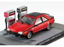 MAGAZINE MODELS 1:43 - RENAULT FUEGO JAMES BOND *A VIEW TO A KILL*, RED
