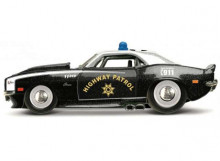 MAISTO 1:64 - CHEVROLET CAMARO Z/28 1968 HIGHWAY PATROL, BLACK/WHITE