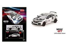 MINI GT 1:64 - HONDA CIVIC TYPE R 2018 (FK8) ART CAR MANGA AUTOSHOW PARIS LEFT HAND DRIVE, WHITE/BLACK