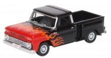 OXFORD 1:87 - CHEVROLET STEPSIDE PICK UP 1965 BLACK/FLAM