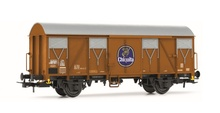 Rivarossi HO (1:87) - DB, Gs, closed wagon in orange livery 'Chi quita', epoch IV