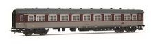 Rivarossi HO (1:87) - Set x 2 coaches 59 type, red livery, first class RIC and second class with beige conn