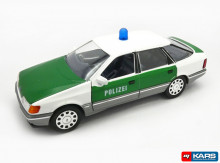 SCHABAK 1:24 - FORD SCORPIO *POLIZEI*, WHITE/GREEN
