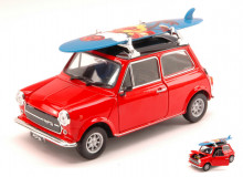 WELLY 1:24 - MINI COOPER 1300 1974 WITH WINDSURF RED W/BLACK ROOF