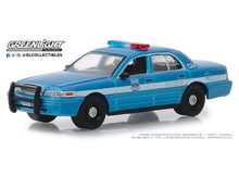 GREENLIGHT 1:64 - FORD CROWN VICTORIA 2010 POLICE INTERCEPTOR SEATTLE WASHINGTON POLICE *HOT PURSUIT SERIES 31*, BLUE/WHITE