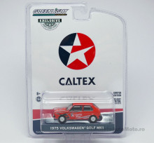 GREENLIGHT 1:64 - VOLKSWAGEN GOLF MKI 1975 *CALTEX WITH TECHRON*, RED