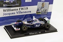 MAGAZINE MODELS 1:43 - WILLIAMS FW19 1997 #3 'VILLENEUVE', BLUE/WHITE