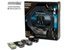 GREENLIGHT 1:64 - HOLLYWOOD FILM REELS SERIES 5. *SUPERNATURAL* 4 CARS IN A NICE METAL TIN MOVIE BOX.