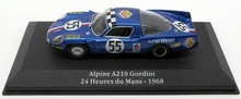 ATLAS 1:43 - ALPINE A210 GORDINI #55 24H LE MANS 1968, BLUE METALIC
