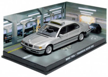 ATLAS 1:43 - BMW 750I TND JAMES BOND 'TOMORROW NEVER DIES' 1997, SILVER