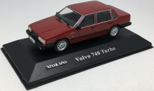 ATLAS 1:43 - VOLVO 740 TURBO, DARK RED
