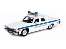 AUTO WORLD 1:43 - DODGE MONACO 1974 CHICAGO POLICE *RESIN SERIES*, WHITE/BLUE