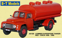 BASE TOYS MODELS 1:76 - COMMER SUPERPOISE TANKER - RED