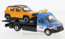 BBURAGO 1:43 - IVECO DAILY TRANSPORT WITH JEEP RENEGADE