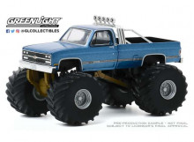 GREENLIGHT 1:64 - CHEVROLET K-10 1977 MONSTER TRUCK MAIDEN AMERICA *KINGS OF CRUNCH SERIES 7*, BLUE