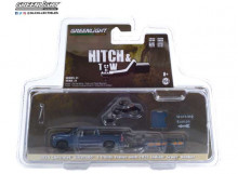 GREENLIGHT 1:64 - CHEVROLET SILVERADO 2020 AND UTILITY TRAILER WITH 2020 INDIAN SCOUT BOBBER MOTORCYCLE *HITCH & TOW