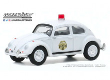 GREENLIGHT 1:64 - VOLKSWAGEN BEETLE 1964 SCOTTSBORO ALABAMA POLICE DEPARTMENT *CLUB VEE-DUB SERIES 11*, WHITE
