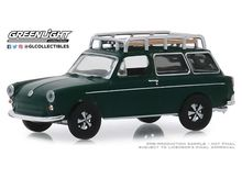 GREENLIGHT 1:64 - VOLKSWAGEN TYPE 3 1969 SQUAREBACK *ESTATE WAGON SERIES 4*, DARK GREEN