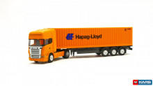 "HERPA 1:120 - Scania R TL container semitrailer ""Hapag Lloyd"""