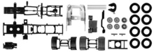 HERPA 1:87 - chassis for tractor Scania R forward-stroke 3-axle Content: 2 pcs.