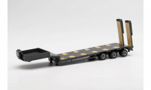 HERPA 1:87 - Goldhofer low boy trailer 3-axle with assembled chutes, anthracite
