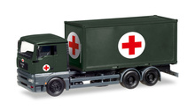 "HERPA 1:87 - MAN TGA XL INTERCHANGABLE-TRUCK WITH MEDICAL CONTAINER ""BUNDESWEHR"""