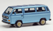 HERPA 1:87 - VW T3 Bus with BBS wheels, blue metallic