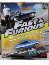HOTWHEELS 1:55 - FAST & THE FURIOUS CARS - FORD ESCORT RS1600 MK1