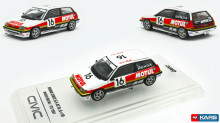 INNO MODELS 1:64 - HONDA CIVIC 1987 SI E-AT GR. #16 MUGEN *MOTUL* JTC, WHITE/RED