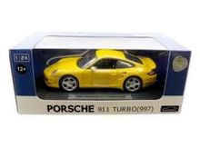 JOY CITY 1:24 - PORSCHE 911 TURBO 997, YELLOW