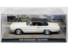 MAGAZINE MODELS 1:43 - FORD THUNDERBIRD 1964 JAMES BOND *GOLDFINGER*, WHITE