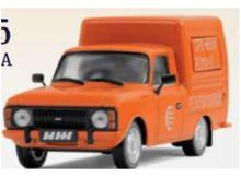 MAGAZINE MODELS 1:43 - IZH 2715 1987 DELIVERY VEHICLE USSR, ORANGE