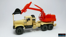 MAGAZINE MODELS 1:43 - KRAZ 255B AO-4421A, BEIGE/RED