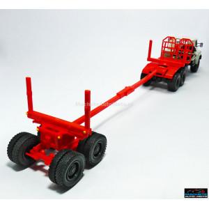 MAGAZINE MODELS 1:43 - KRAZ 260L, LIGHT GREY/RED TIMBER TRANSPORTATION WITHOUT LOAD